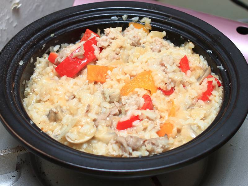 蘑菇豬肉燉飯
