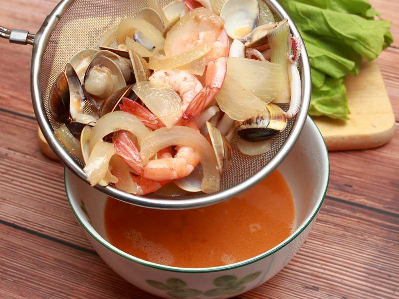 什錦海鮮烏龍麵 - 運用蝦湯讓味道更鮮美 Part4